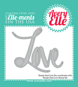 "Avery Elle ""Simply Said Love"" Metal Die"