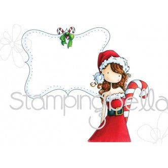 "Stamping Bella Uptown Girl ""Chrystal's Christmas Label"" Rubber Stamp"