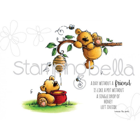 "Stamping Bella Stuffies ""Honeybear Stuffies"" Rubber Stamp Set"