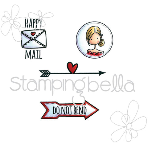 "Stamping Bella Mr. Postie ""Seal of Approval Envelope Accents"" Rubber Stamp Set"