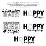 "Avery Elle ""Holiday Fill-In the Blank"" Clear Stamp"