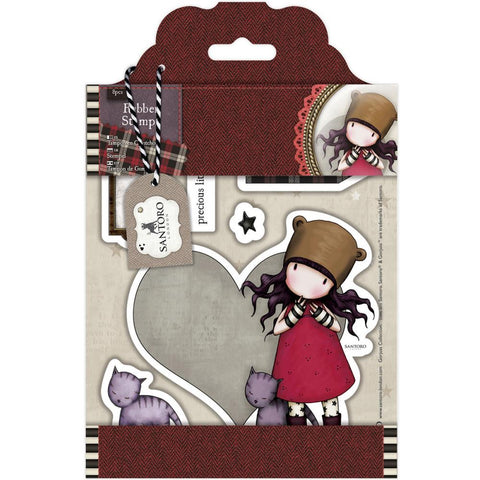 "Santoro/Docrafts Gorjuss Tweed ""Purrrrrfect Love"" Rubber Stamp Set"