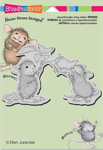 "Stampendous/House Mouse ""Smell the Roses"" Cling Rubber Stamp"