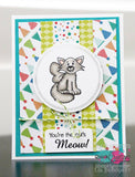"The Paper Nest Dolls Exclusive ""Fairy Kittens"" Rubber Stamp Set"