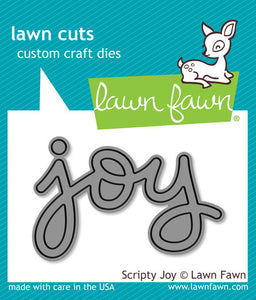 "Lawn Fawn ""Scripty Joy"" Custom Craft Die"