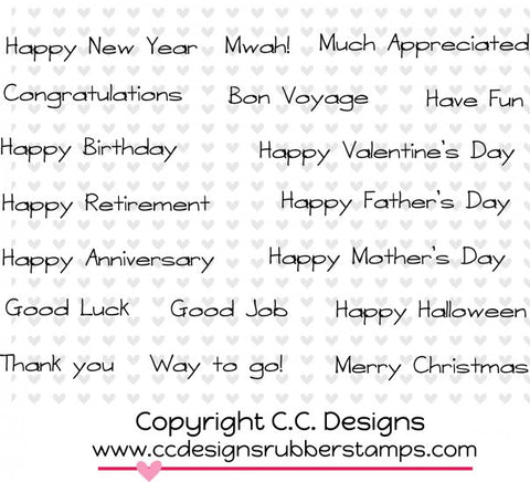 "CC Designs ""All Occasion"" Rubber Stamp"