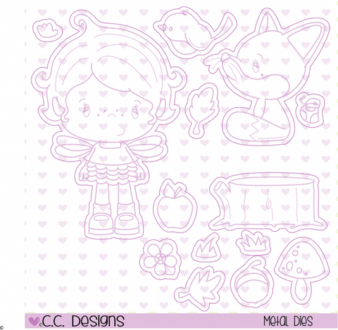 "CC Designs Little Pixie ""Forest Pixie"" Outline Dies"