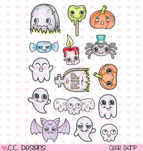 "C.C. Designs OK! ""Halloween Things"" Clear Stamp Set *NEW*"