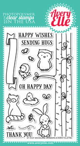 "Avery Elle ""Woodland Wonders"" Clear Stamp"