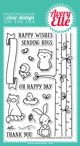 "Avery Elle ""Woodland Wonders"" Clear Stamp Set"
