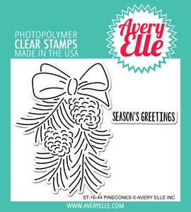 "Avery Elle ""Pinecones"" Clear Stamp"
