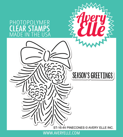 "Avery Elle ""Pinecones"" Clear Stamp Set"