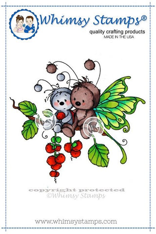 "Whimsy Stamps/Wee Stamps ""Sympathy Bugs"" Rubber Stamp"