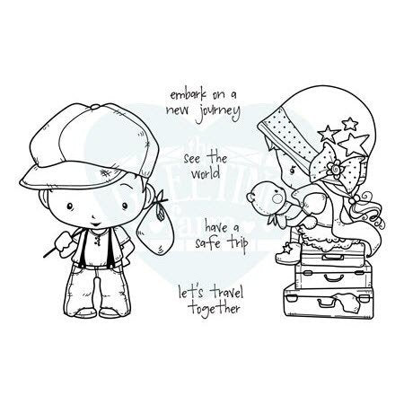 "The Greeting Farm Oliver & Amelia ""Journey"" Rubber Stamp"
