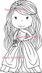 "The Paper Nest Dolls ""Ballgown Ellie"" Rubber Stamp"