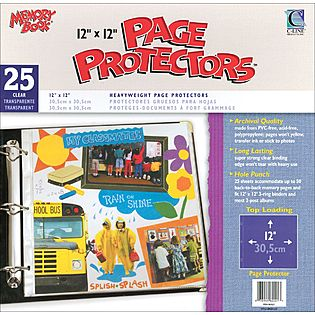"C-Line Memory Book 12 x 12"" Top Loading Page Protectors"