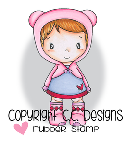 "CC Designs  Swiss Pixie ""Teddy Lucy"" Rubber Stamp"