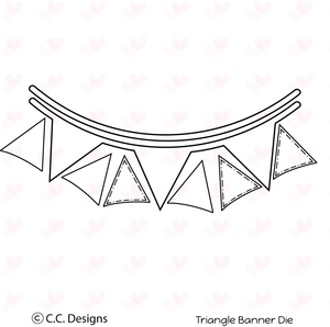 "*NEW* CC Designs ""Triangle Banner"" Metal Outline Dies"