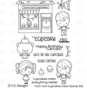 "*NEW* CC Designs  ""Yum Yum Cupcake"" Clear Stamp"