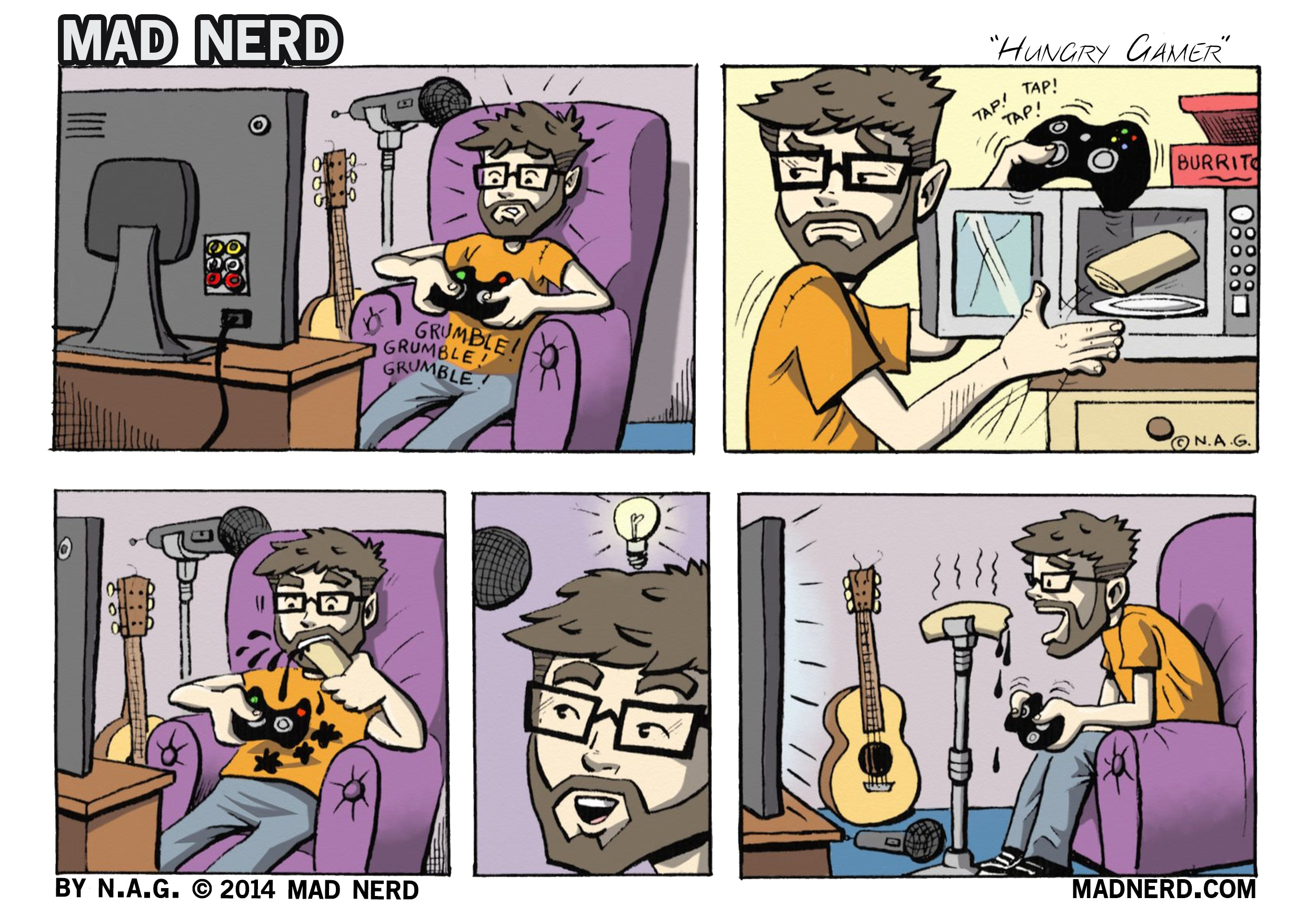Hungry Gamer Comic from Mad Nerd Comics