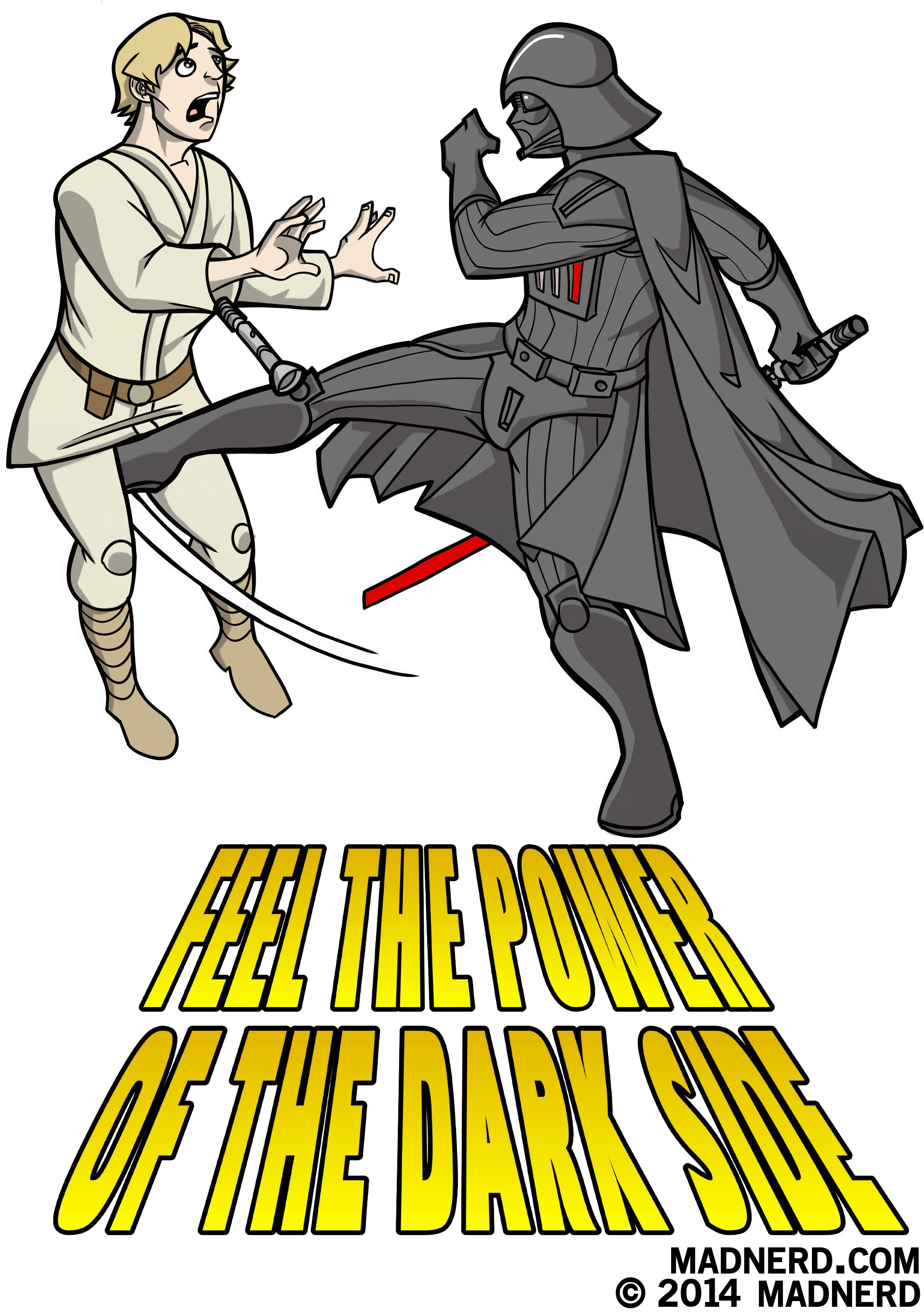 Feel the power of the dark side -Darth Vader and Luke