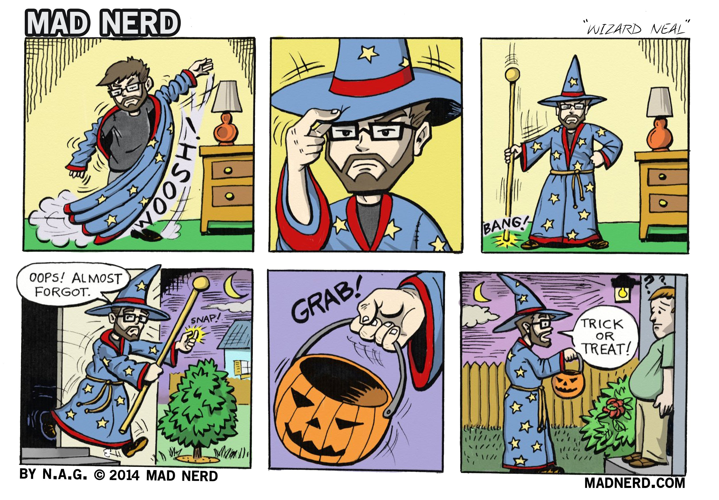 Wizard Neal Comic from Mad Nerd Comics