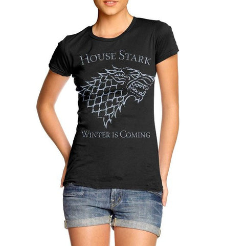 Vintage Game of Thrones House Stark Sigil T-Shirt for Women