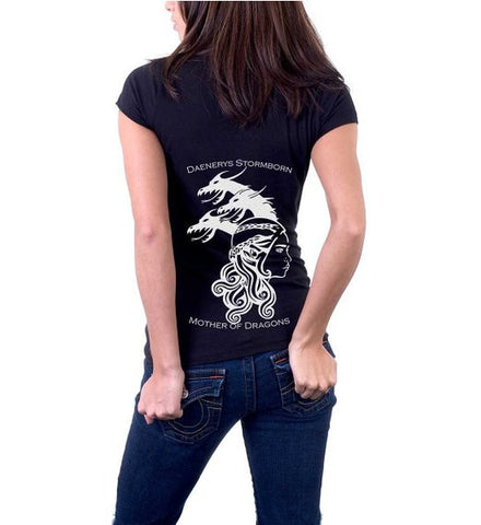 Women's Game Of Thrones Mother Of Dragons Wrap T-Shirt