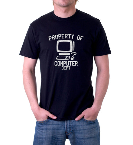 Big image of Property Of Computer Department T-Shirt for Men