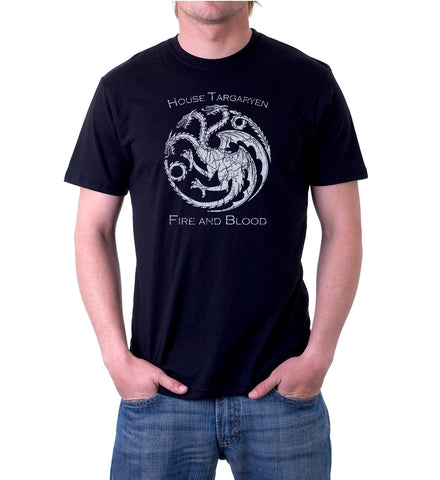 Vintage Game of Thrones House Targaryen Dragon Sigil T-Shirt for Mens