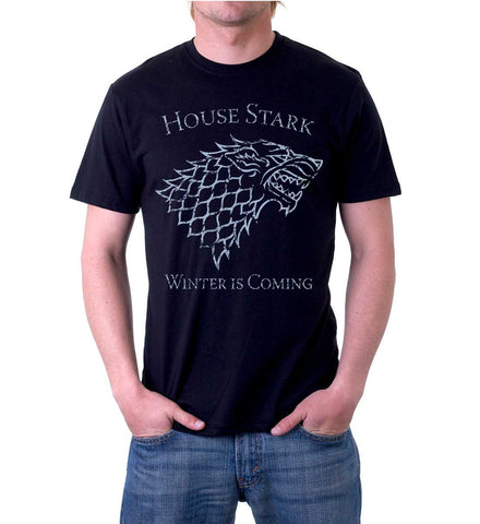 Vintage Game of Thrones House Stark Sigil T-Shirt for Men
