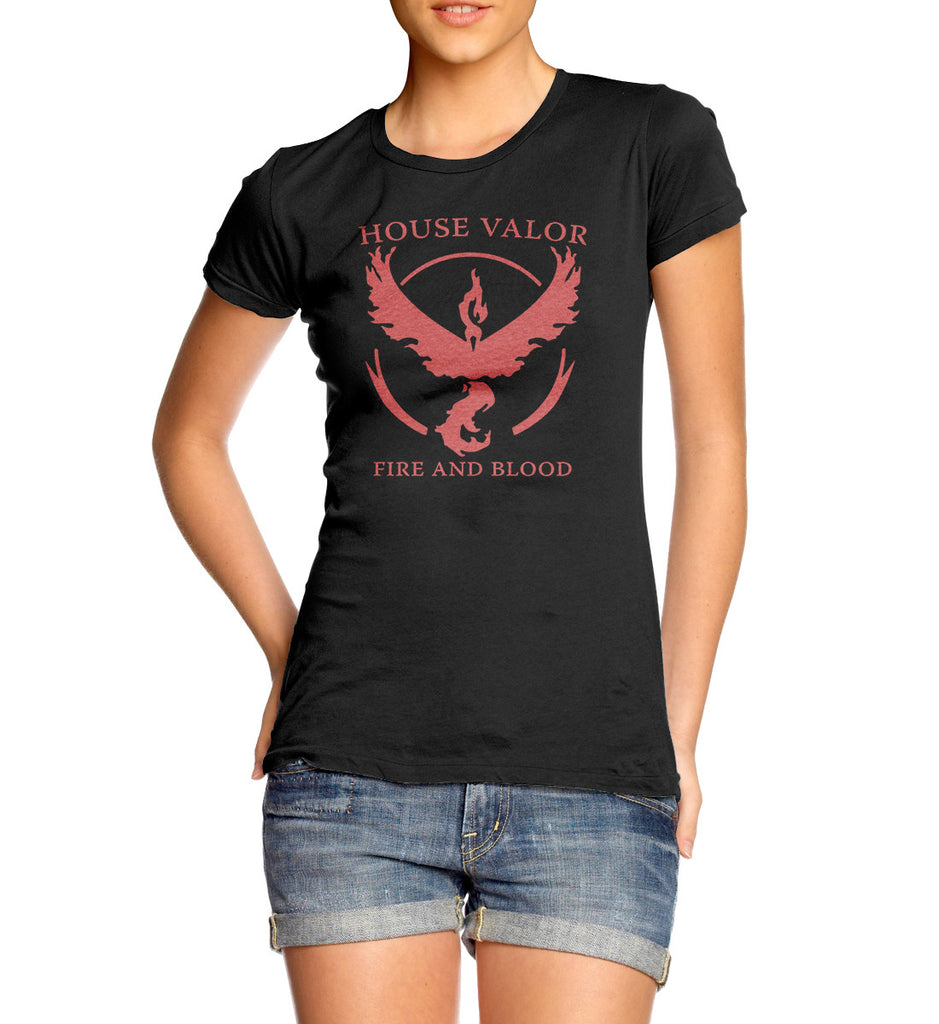 Pokemon Go House Valor Fire and Blood T-Shirt for women