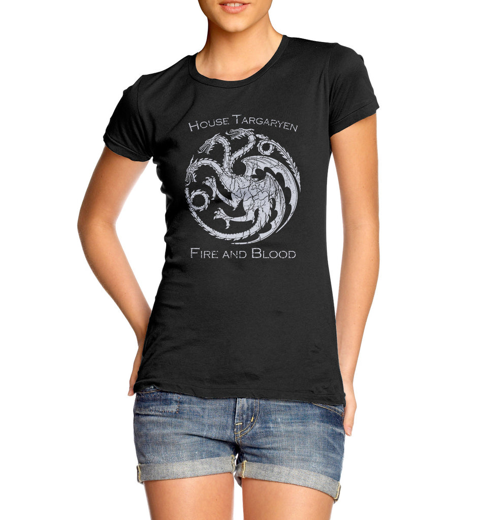 womens game of thrones house targaryen dragon vintage  t-shirt