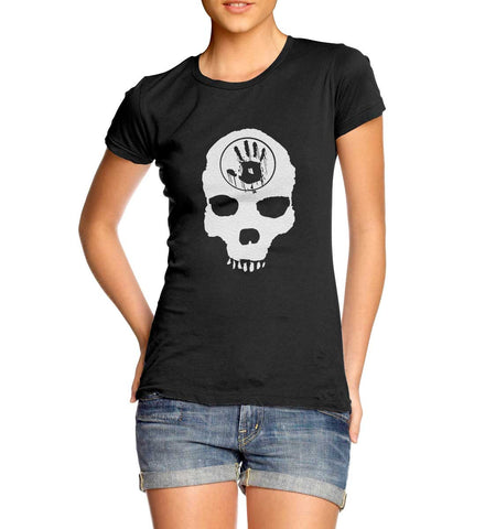 Skyrim The Dark Brotherhood Skull Black Door T-Shirt for Women