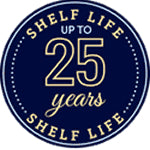 25 YEAR SHELF LIFE