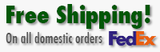 Free Shipping On All Domestic Orders Via FedEx