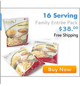 16 SERVING FAMILY ENTREES SAMPLE PACK