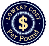 LOWEST COST PER POUND
