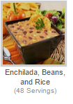 ENCHILADA, BEANS AND RICE