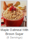 MAPLE OATMEAL WITH BROWN SUGAR