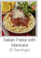 Italian Pasta with Marinara(8 Servings)