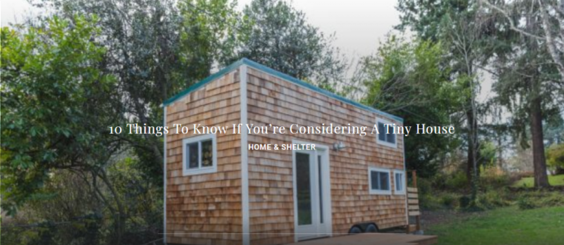 10 Things To Know If You're Considering A Tiny House
