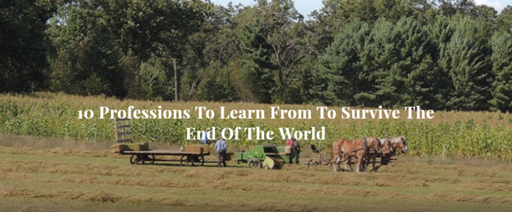 10 Professions To Learn From To Survive The End Of The World