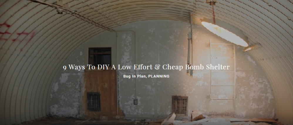 9 Ways To DIY A Low Effort & Cheap Bomb Shelter - Bug In Plan, PLANNING