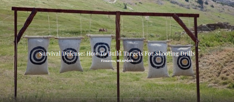 Survival Defense: How To Build Targets For Shooting Drills - Firearms, WEAPONS
