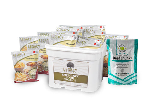 79 Serving Freeze Dried Beef and Entree Combo Bucket