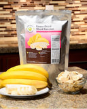 34 Servings Freeze-Dried Banana Chips Pouch - 6 pack