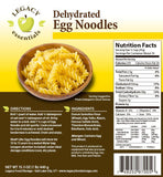 10 Servings Dehydrated Egg Noodles - 6 pack