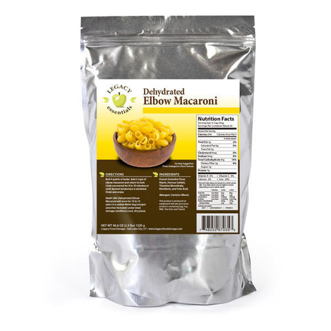 24 Servings Dehydrated Elbow Macaroni - 6 pack