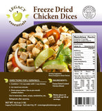 16 Servings - 1 lb Freeze-Dried Diced Chicken
